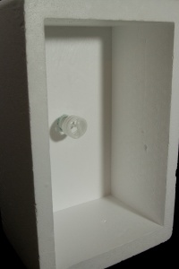 Light fixture mounted into the cooler base